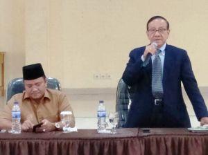 Akbar Tanjung dan Wawako Maulana Hadiri Rapat Persiapan Rakornas KAHMI