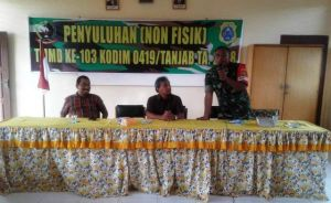 Satgas TMMD ke- 103 Kodim 0419/Tanjab  Undang BPN Sosialisasi Cara Pembuatan Sertifikat