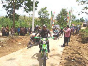 Naiki Trail, Wabub Rembang Jajal Jalan Baru