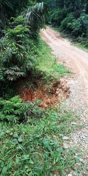 3 Desa di Nalo Tantan Keluhkan Jalan Longsor Menuju Kota Bangko