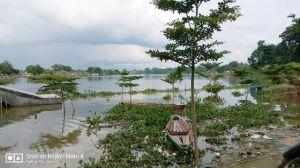 Waduh.. Proyek Rp5 Miliar di Danau Sipin ini Tenggelam Karena Banjir