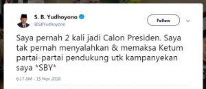 SBY Minta Prabowo-Sandi Fokus Paparkan Visi dan Misi ke Masyarakat