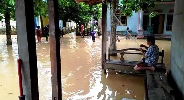 Puluhan Rumah Warga Kampung Penual Terendam Banjir
