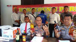 Ribuan Botol Miras Ilegal Diamankan Polairud Polda Jambi