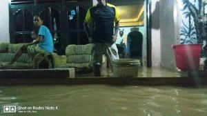 Warga Khawatir Banjir Makin Tinggi, Depan Lapas Jambi Air Capai  Satu Meter