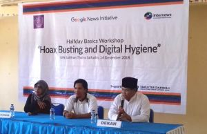 AJI Kota Jambi Gelar Halfday Basic Workshop Hoax Busting and Digital Hygiene