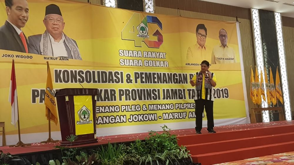 Hadapi Pilpres, Airlangga Ingin Kader Golkar Jadi Orang Pertama yang Menangkan Jokowi - Ma'ruf Amin