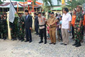 Sekda Menjadi Irup Serah Terima Pleton Beranting Yudha Wastu Pramuka Jaya