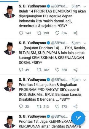 SBY Beberkan 14 Prioritas yang Siap Diperjuangkan Partai Demokrat