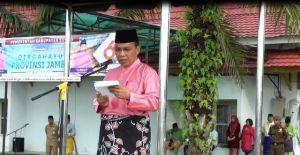 Sekda Bungo Pimpin Upacara  HUT Provinsi Jambi ke -62