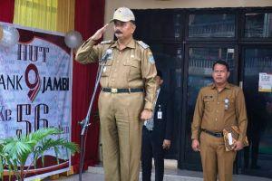 Wabup Amir Sakib Jadi Inspektur Upacara HUT Bank Jambi ke-56