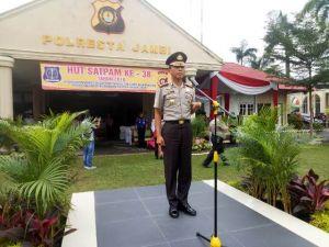 Kapolresta Jambi Pimpin Upacara Peringatan HUT Satpam ke-38, Ini Pesannya