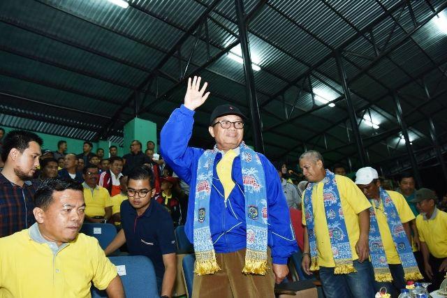 Fachrori  saat hadir dalam pembukaan Gubernur Cup