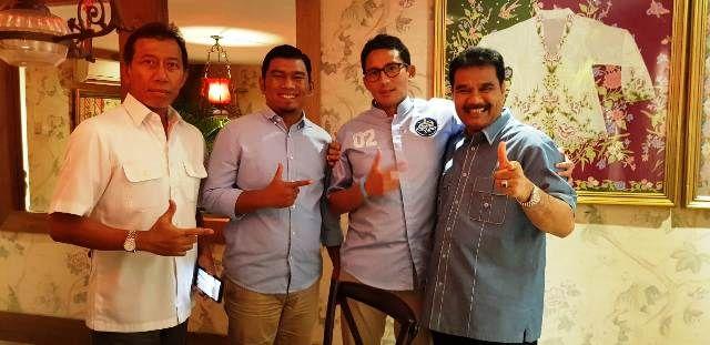 Dari Kanan, SAH, Sandiaga dan Rocky Candra saat bertemu di Jakarta