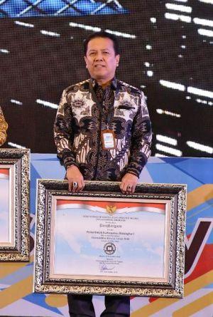 Kinerja 2018, Syahirsah Terima Penghargaan Sakip