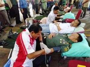 Korem 042/Gapu Gelar Donor Darah, Danrem: Biar Sah Menyatu dengan Masyarakat Jambi