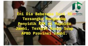 VIDEO: Ekspresi Tersangka Kasus Suap APBD Tiba Polda Jambi