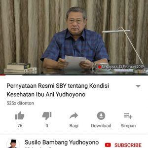 Ani Yudhoyono Sakit Kanker Darah, SBY Minta Doa