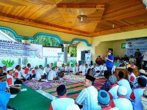 Zulfikar Achmad Gelar Sosialisasi KIE BPOM di Desa Pulau Kerakap