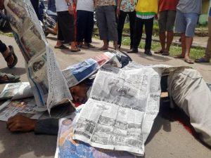 Diduga Terjatuh saat Salip Bus, Pria Ini Tewas Dilindas Truk Batu Bara