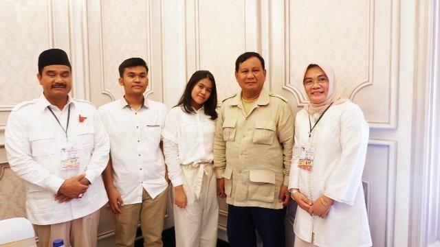 Prabowo bersama SAH dan keluarga