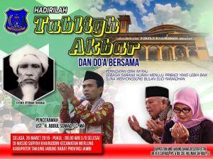 Ustadz Abdul Somad Akan Tausiyah Di Mesjid Besar Merlung