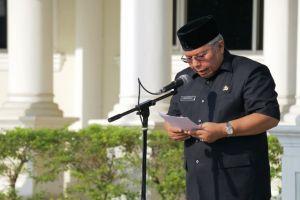 Pimpin Upacara Gabungan, Safrial Tegaskan Sudah Berbuat Banyak Untuk Kemajuan Pelayanan Publik
