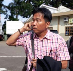 Aliang Pilih Bungkam Usai Temui penyidik KPK di Polda Jambi