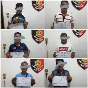 Ditreskrimum Polda Jambi Gerebek Perjudian di Pasar Hongkong, 6 Orang Pelaku Diamankan