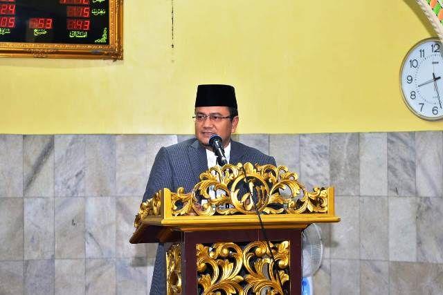 Maulana saat memberikan sambutan