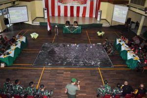 Danrem Pimpin Tactical Floor Game Kesiapsiagaan Pengamanan Pemilu, Begini Suasananya