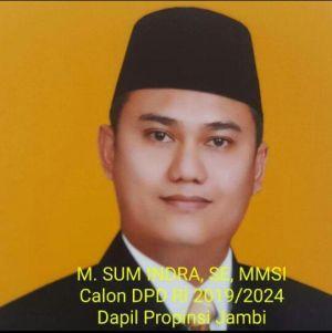Diprediksi Lolos ke Senayan Melalui DPD RI dapil Jambi, Begini Kata Sum Indra