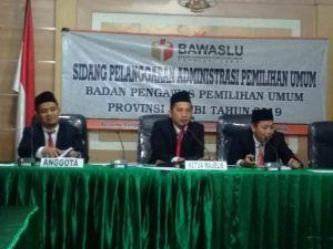 Sidang Laporan PAN Terhadap KPU dan Bawaslu Bungo Diskor Majelis dan Dilanjutkan Besok
