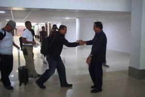 Kapolda Jambi Sambut Kedatangan Tim Wasrik di Bandara