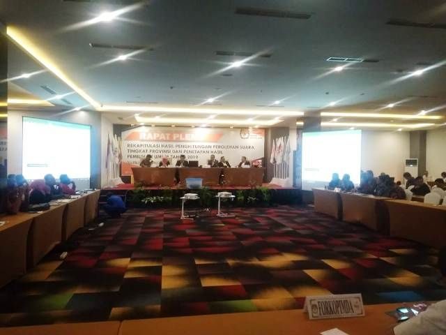 Pleno rekapitulasii suara tingkat Provinsi Jambi baru-baru ini