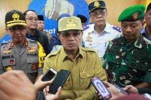 Bersama Kapolda Dan Danrem, Gubernur Tinjau Pos Pengamanan Idul Fitri