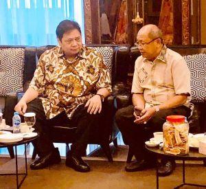 Cek Endra Sambangi Ketum DPP Golkar Laporkan Hasil Pileg 2019