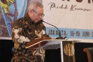 Bupati Safrial menjadi Nasasumber FGD Revitalisasi Kemitraan Program Prukades di Jakarta