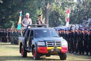 Upacara HUT Bhayangkara ke 73 Polda Jambi di Lapangan Eks MTQ, Ini Amanat Presiden RI