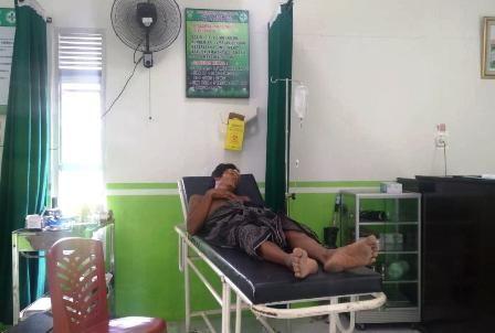 Korban setelah mendapatkan perawatan