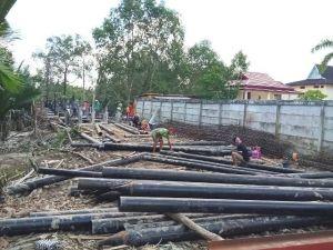 Warga Cemas Pembangunan Jembatan Senilai Rp 3,8 M Ganggu Aktivitas Pompong
