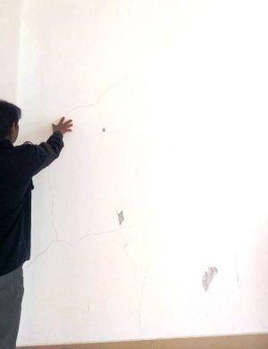 Dinding Rumah Sakit Pratama di Sungai Penuh Retak-retak, Dinas PU Sebut Karena Kualitas Pasir