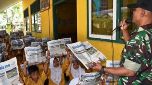 Guru SDN Kalikondang Akan Teruskan Program Literasi Yang Didorong TNI