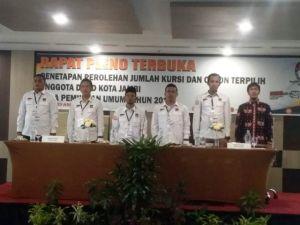 KPU Kota Jambi Lakukan Pleno Penetapan Calon Terpilih, PAN dan PKPI Tidak Hadir
