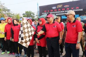 Jalan Santai Meriahkan Hari Jadi Kabupaten Tanjabbarat ke-54 dan HUT RI 74