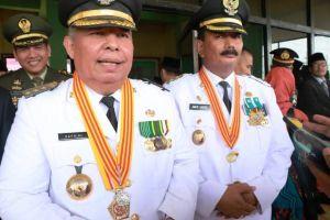 Bupati Safrial Jadi Irup Peringatan HUT Ke-74 RI di Kabupaten Tanjabbarat