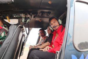 Gunakan Helikopter, Kapolda Tinjau Titik Hostpot di Wilayah Provinsi Jambi