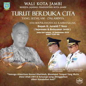 Budayawan Jambi Junaidi T. Noor Berpulang, Fasha Ucapkan Duka Mendalam