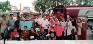Himpunan Mahasiswa Bungo Tanggap Bencana Bagikan 4000 Masker
