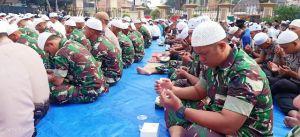 Ratusan Prajurit Ikuti Shalat Istisqa yang di Polda Jambi